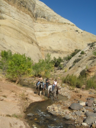 Pleasant Creek Horse Ride Capitol Reef National Park